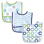 BabyVision® Luvable Friends® 3-Pack PEVA Bib in Blue