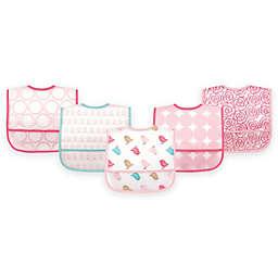 BabyVision® Luvable Friends® 5-Pack PEVA Pink Birds Bib Set