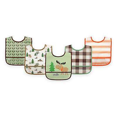BabyVision® Luvable Friends® 5-Pack PEVA Moose Bib Set