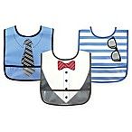BabyVision® Luvable Friends® 3-Pack Waterproof Dress Up Bib for Boys