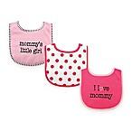 BabyVision® Luvable Friends 3-Pack  I Love Mommy  Drooler Bib Set in Pink