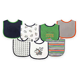 BabyVision® Luvable Friends® 7-Pack Dog Drooler Bib Set in Blue
