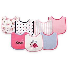BabyVision® Luvable Friends® 7-Pack Ladybug Drooler Bib Set in Pink