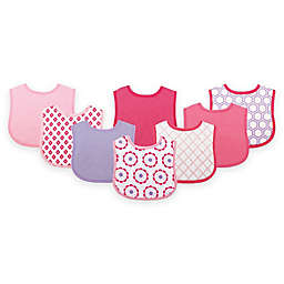 BabyVision® Luvable Friends® 8-Pack Geometric Drooler Bib Set in Pink