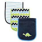 BabyVision® Luvable Friends® 3-Pack Dinosaur Burp Cloth Set