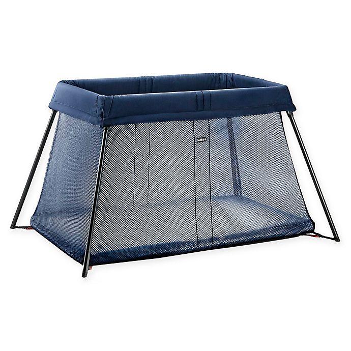 Alternate image 1 for BABYBJORN® Travel Crib Light in Great Blue