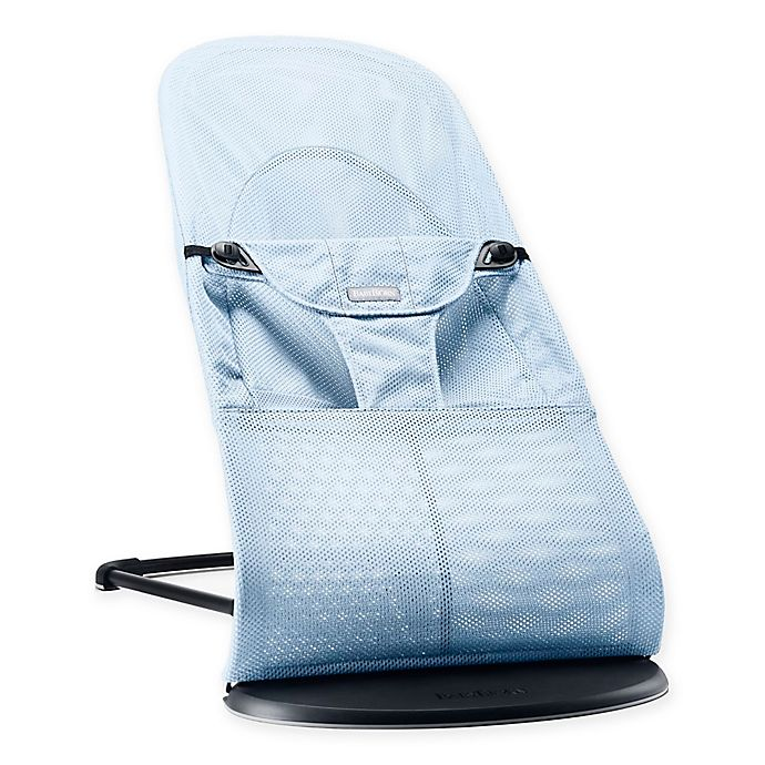 Babybjorn 174 Bouncer Balance Soft In Ice Blue Fish Mesh