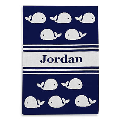 Tadpoles™ by Sleeping Partners Ultra-Soft Knit Whale Blanket in Navy/White