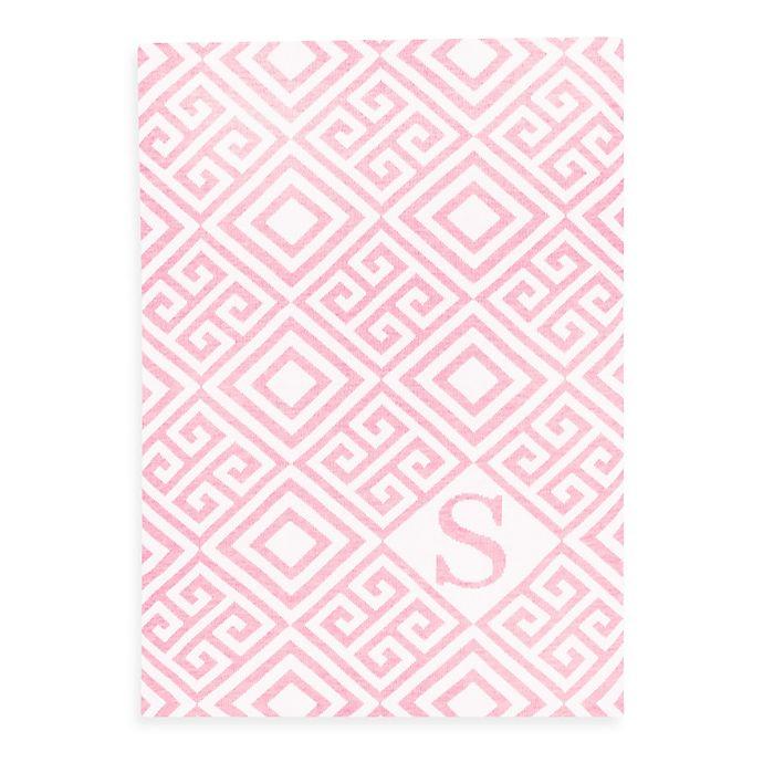 Alternate image 1 for Tadpoles™ by Sleeping Partners Ultra-Soft Knit Greek Key Blanket in Pink