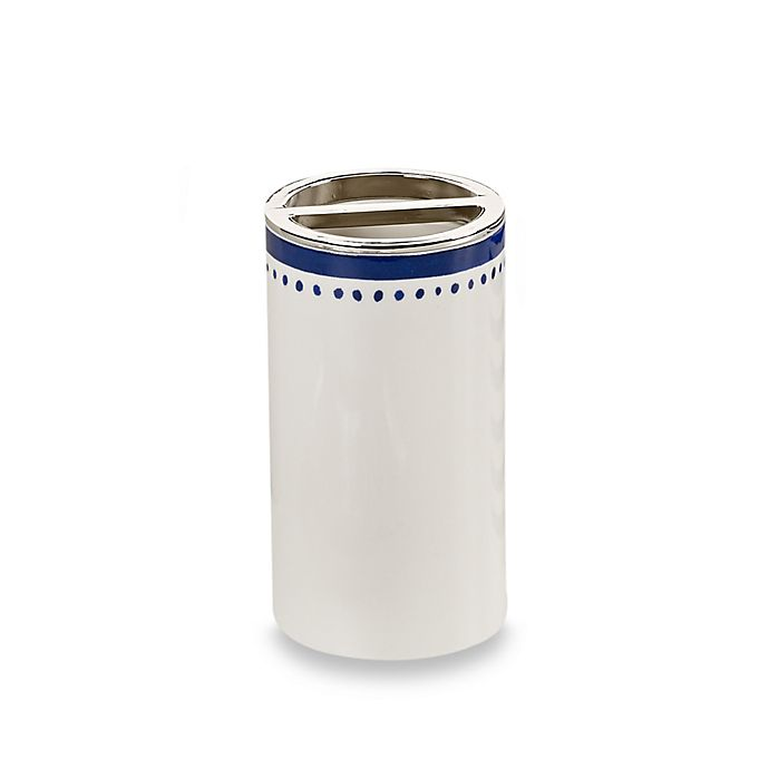 Alternate image 1 for kate spade new york Charlotte Street Toothbrush Holder in White