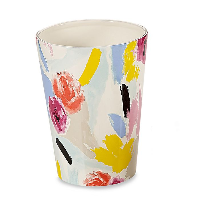 Alternate image 1 for kate spade new york Paintball Floral Wastebasket