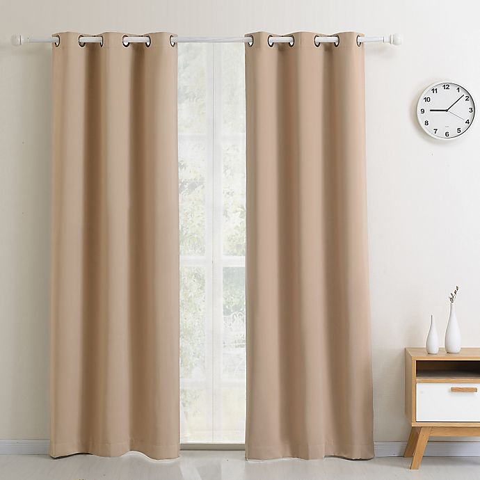 Alternate image 1 for Blackout Grommet Top Window Curtain Panel