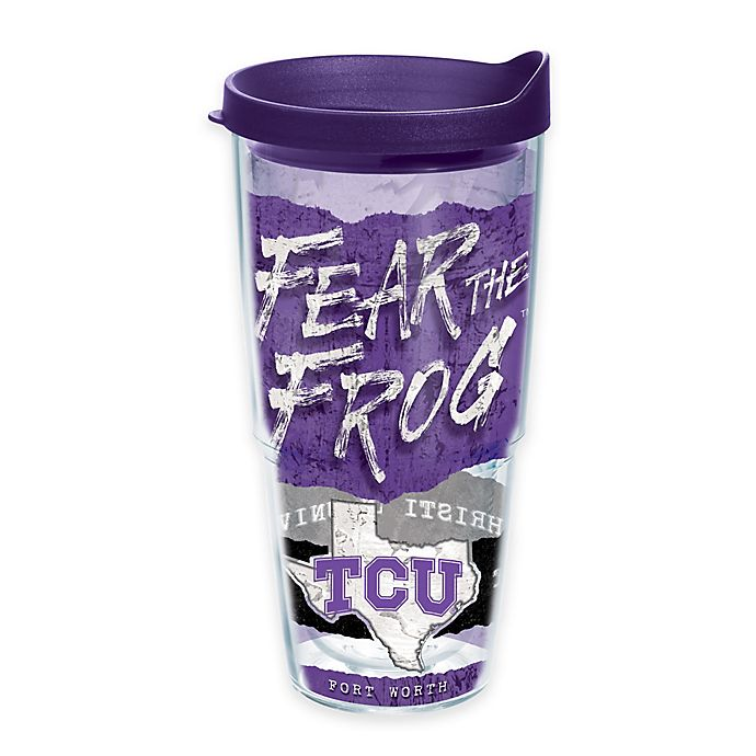 Alternate image 1 for Tervis® Texas Christian University Horned Frogs 24 oz. Statement Wrap Tumbler with Lid
