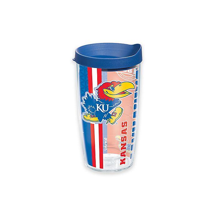 Alternate image 1 for Tervis® University of Kansas Jayhawks 16 oz. Pride Wrap with Lid