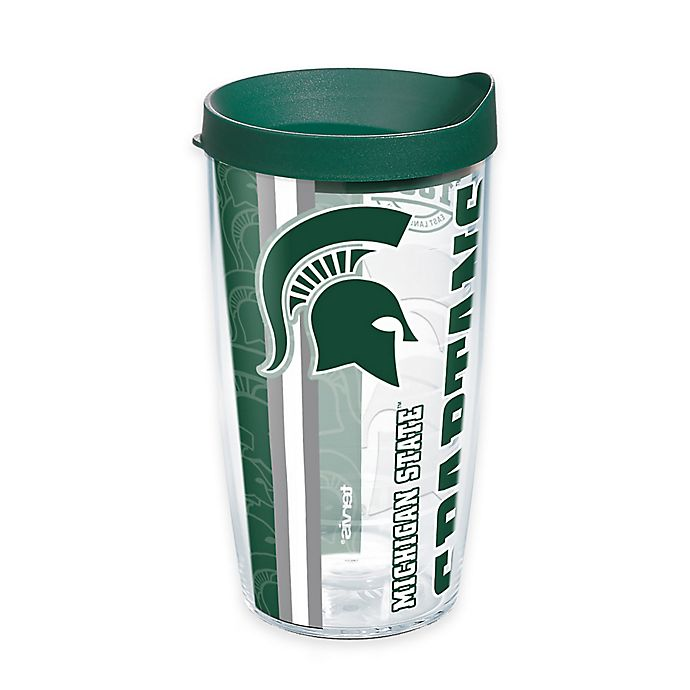 Alternate image 1 for Tervis® Michigan State University Spartans 16 oz. Pride Wrap with Lid