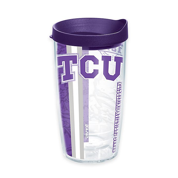 Alternate image 1 for Tervis® Texas Christian University Horned Frogs 16 oz. Pride Wrap with Lid