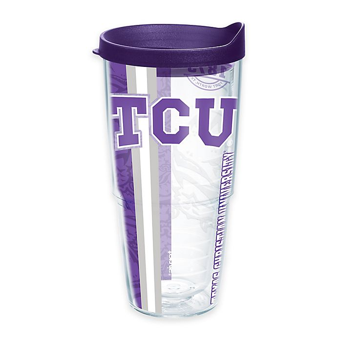 Alternate image 1 for Tervis® Texas Christian University Horned Frogs 24 oz. Pride Wrap with Lid
