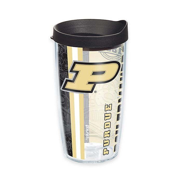 Alternate image 1 for Tervis® Purdue University Boilermakers 16 oz. Pride Wrap with Lid
