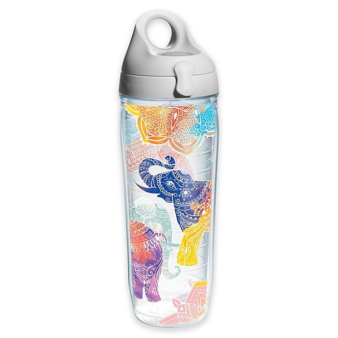 Alternate image 1 for Tervis® Elephant Mehndi 24 oz. Water Bottle with Lid