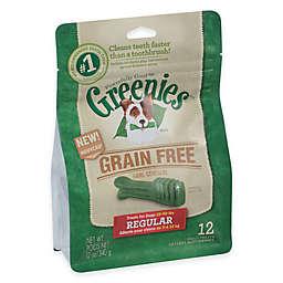Greenies® Regular 12-Count Grain-Free Canine Dental Chew Treats