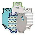 BabyVision® Luvable Friends® Size 3-6M 5-Pack Sunglasses Sleeveless Bodysuits in Blue