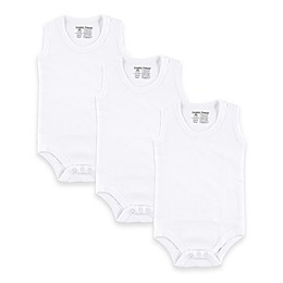 BabyVision® Luvable Friends® 3-Pack Sleeveless Bodysuits in White