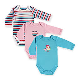 BabyVision® Hudson Baby® 3-Pack Bird Long Sleeve Bodysuits in Pink