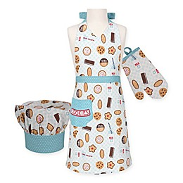 Milk & Cookies Kid's 3-Piece Apron Set