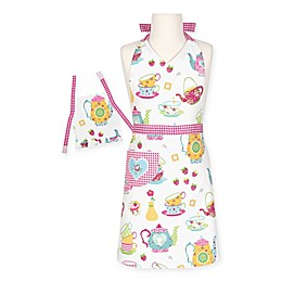 Tea Party Doll and Child Apron Set