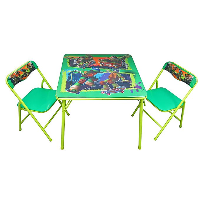 Alternate image 1 for TMNT 3-Piece Activity Table and Chairs Set