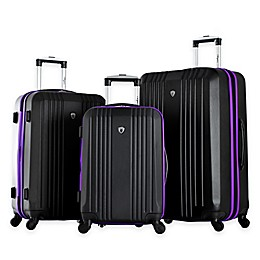Olympia® USA Apache-Inspired 3-Piece 4-Wheel Expandable Spinner Luggage Set