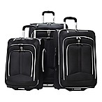 Olympia® USA Hamburg 3-Piece Rolling Expandable Luggage Set in Black
