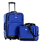Olympia® USA Let's Travel! 2-Piece Rolling Carry On Luggage Set in Royal Blue