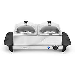 CRUX® Artisan Series 2 x 1.5 qt. Double Buffet Server