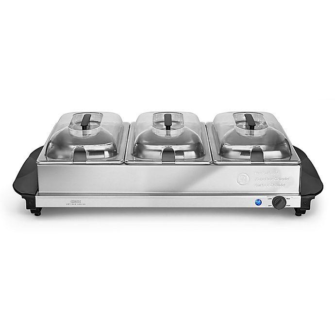 Alternate image 1 for CRUX® Artisan Series 3 x 2.5 qt. Triple Buffet Server