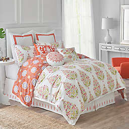 Dena™ Home Santana Reversible Duvet Cover in White/Orange