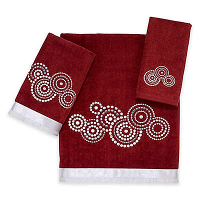 Avanti Mosaic Circle Bath Towel in Brick