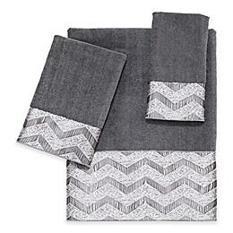 Avanti Chevron Nickel Bath Towel Collection