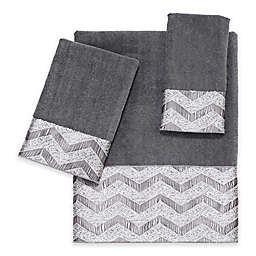 Avanti Chevron Nickel Bath Towel Collection