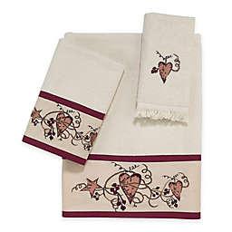 Avanti Hearts & Stars Fingertip Towel