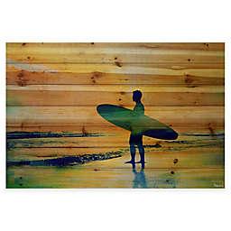 Parvez Taj Surf At Dusk 36-Inch x 24-Inch Wood Wall Art