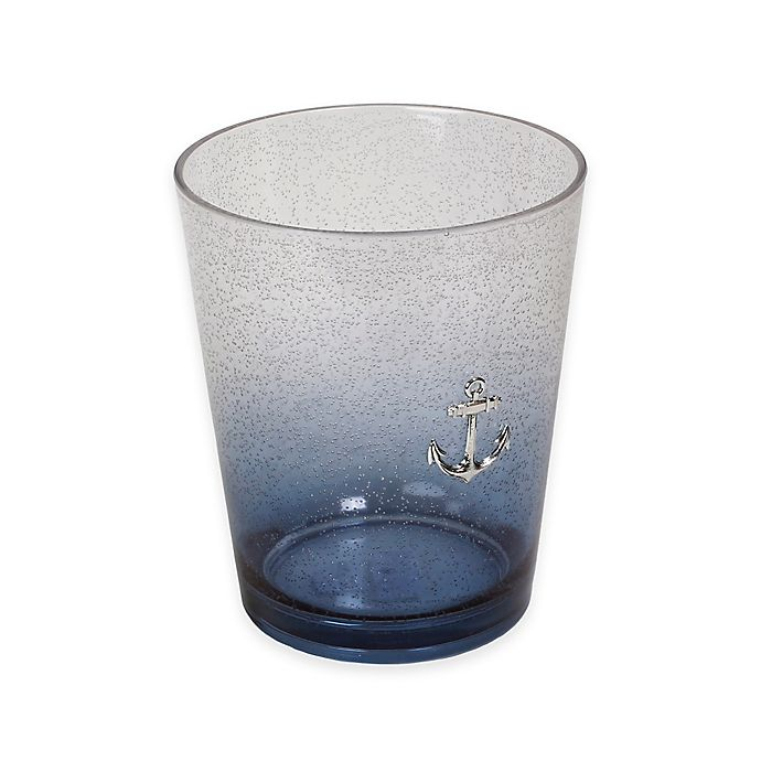Alternate image 1 for Lamont Home® Anchors Ombré Bubble Wastebasket