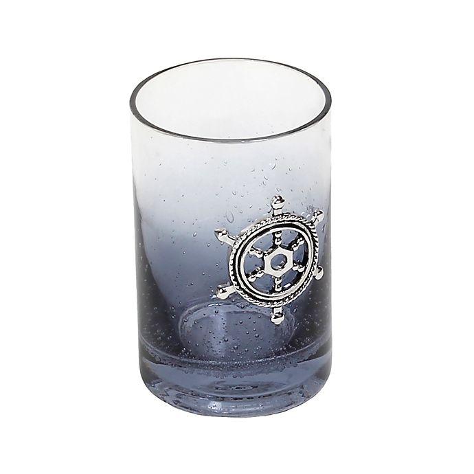 Alternate image 1 for Lamont Home® Anchors Ombré Bubble Glass Tumbler