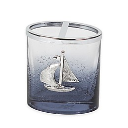 Lamont Home® Anchors Ombré Bubble Glass Toothbrush Holder
