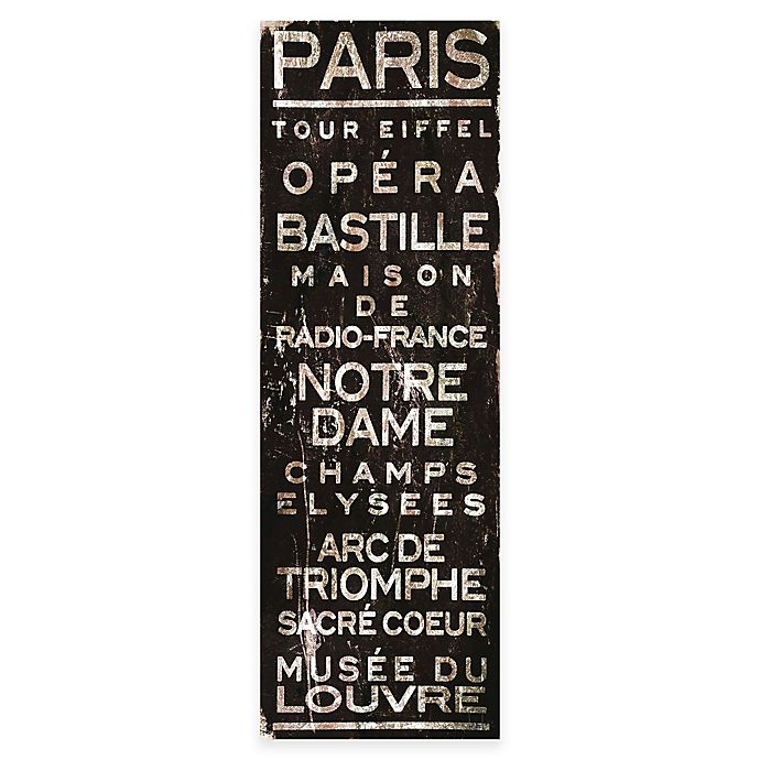 Alternate image 1 for Marmont Hill Paris 10-Inch x 30-Inch Canvas Wall Art