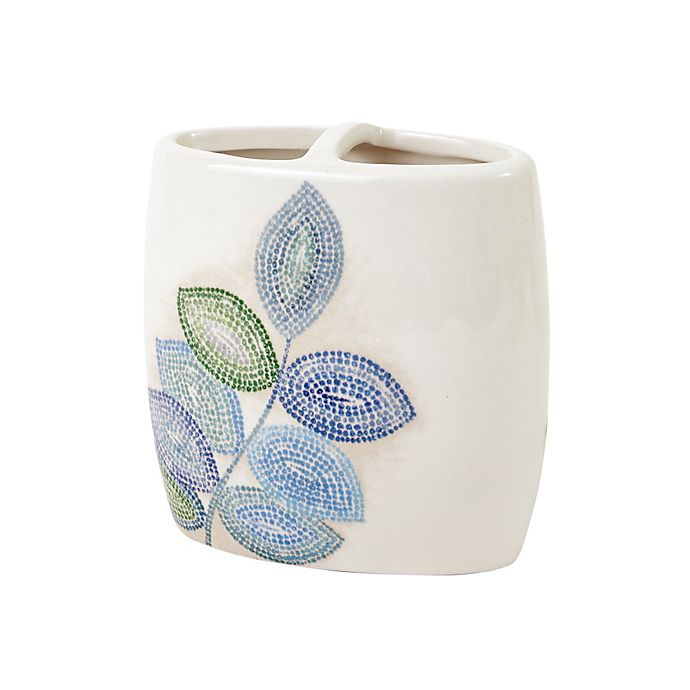 Croscill Mosaic Leaves Toothbrush Holder In Spa Bed Bath Beyond