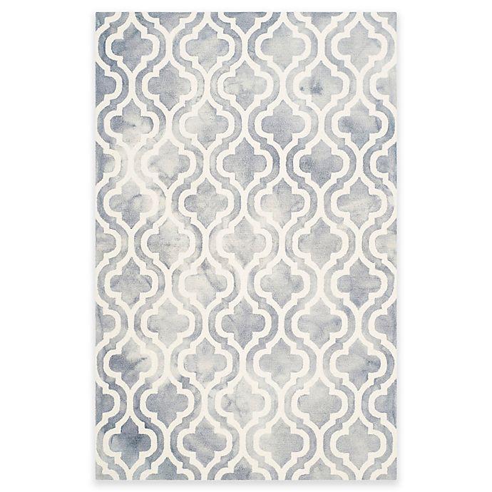 Alternate image 1 for Safavieh Dip Dye Double Trellis 4-Foot x 6-Foot Area Rug in Grey/Ivory