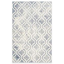 Safavieh Dip Dye Double Trellis 4-Foot x 6-Foot Area Rug in Grey/Ivory