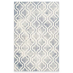 Safavieh Dip Dye Double Trellis 5-Foot x 8-Foot Area Rug in Grey/Ivory