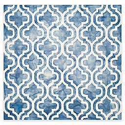 Safavieh Dip Dye Double Trellis 7-Foot Square Area Rug in Blue/Ivory